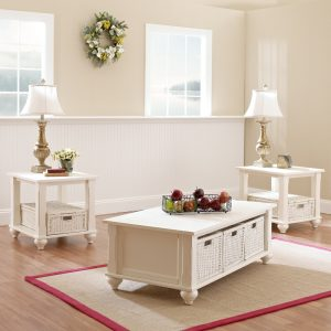 Treasures Occasional Tables- White 842
