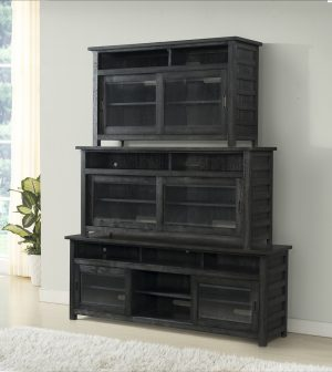 Riverside Furniture Perspective Entertainment Center (Ebonized Acacia)-0